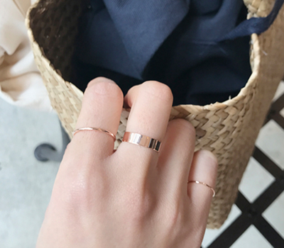 remy pinkgold ring set