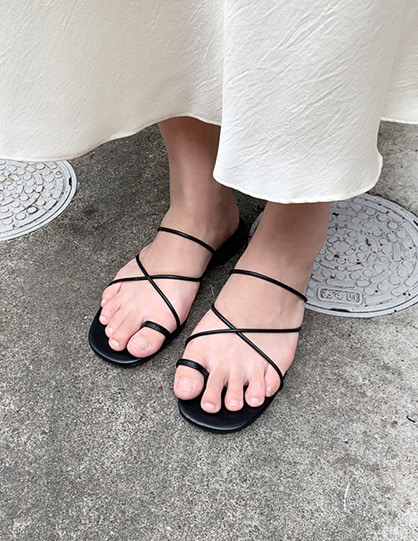 string flat slippers