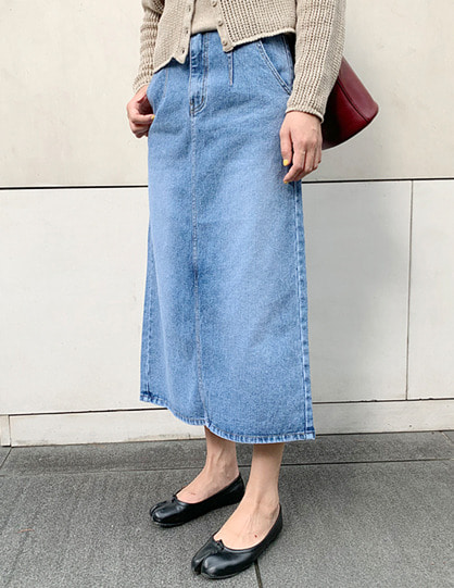 denim A long skirt