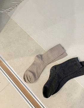 slim twist socks (4color)