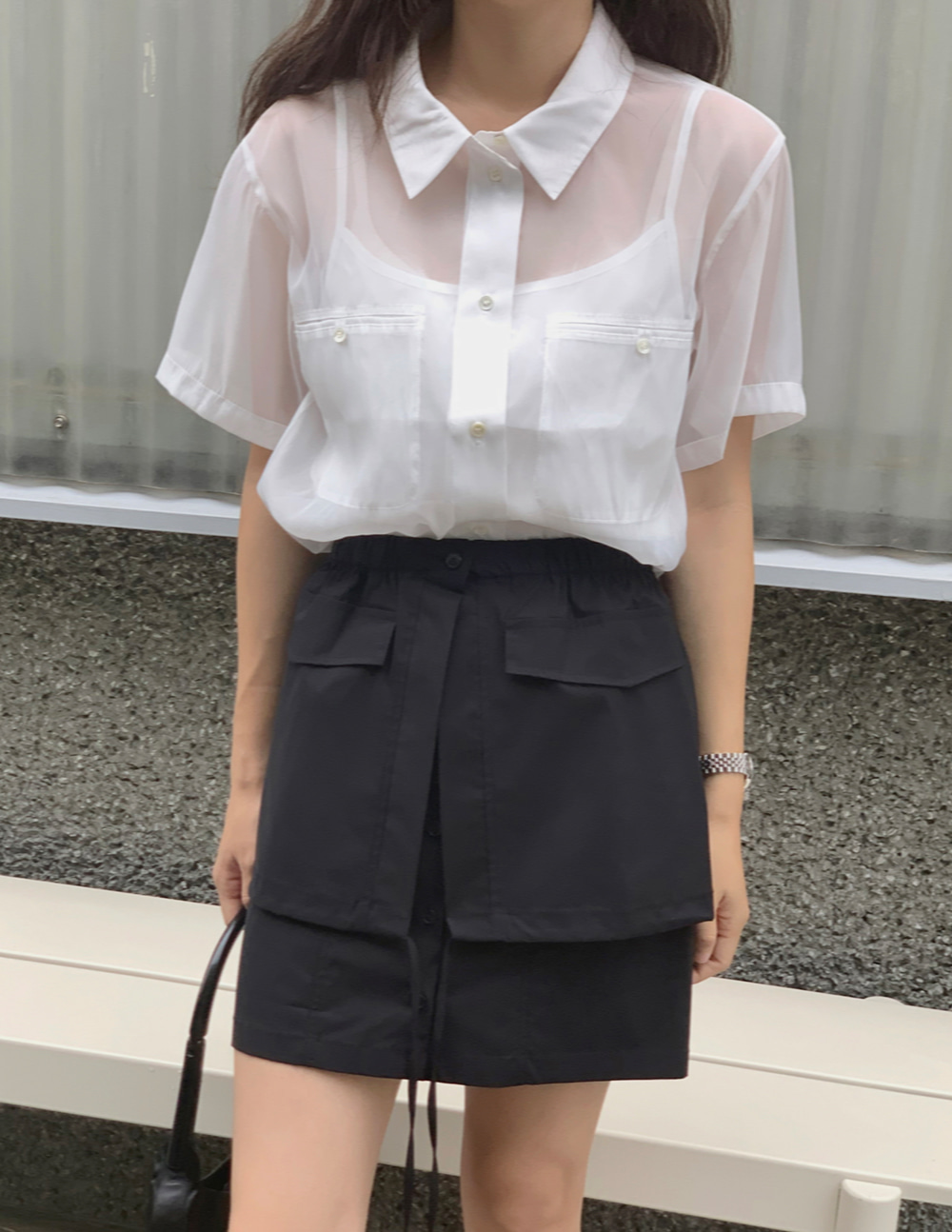 sheer blouse (3color)