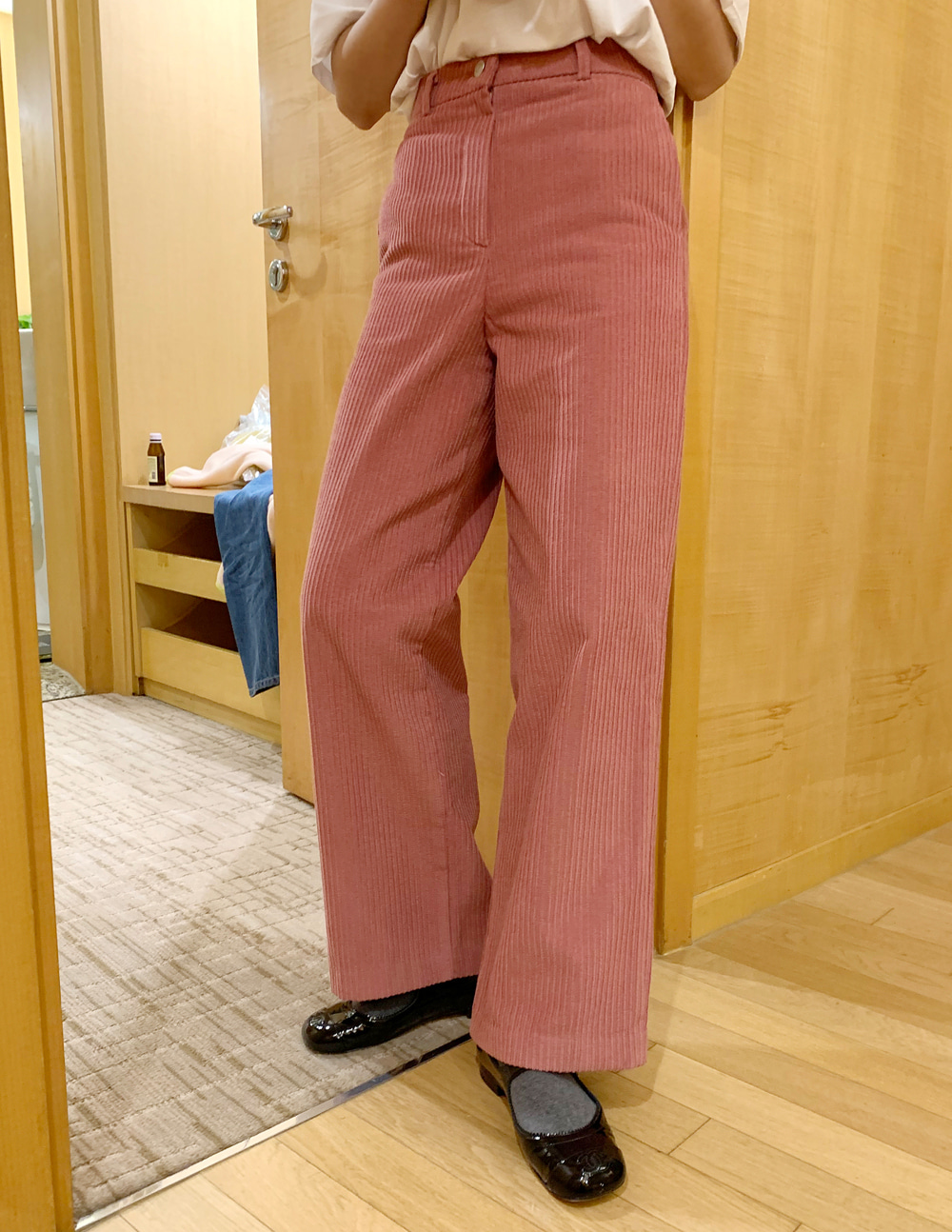[made] wide corduroy pants (2color)
